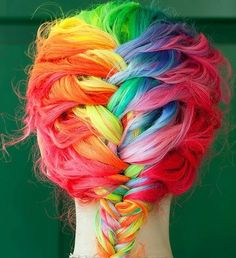 Braided Rainbow Hairstyle