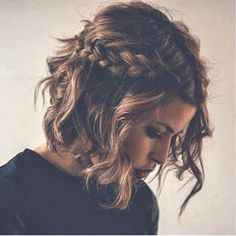 Braided Short Shaggy Hairstyle