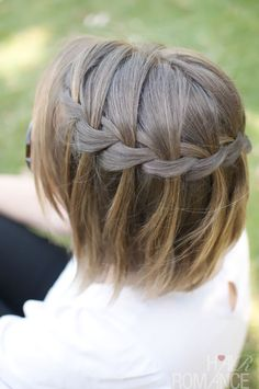 Braided Waterfal for Short Hairstyles