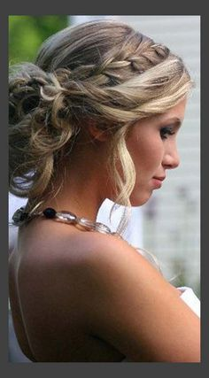 Braided Wedding Updo For Medium Length Hair