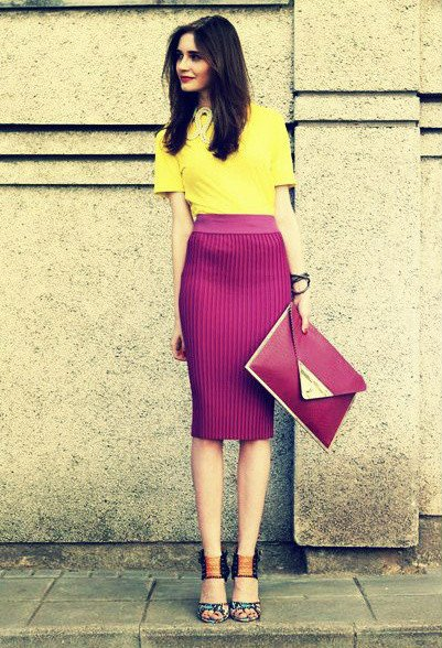 Bright Colored Oufit Idea for Women