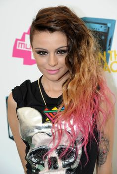 Bright Pink Colored Hair for Cher Lloyd Hairstyles