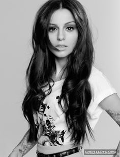 Center Parted Long Wavy Hair for Cher Lloyd Hairstyles