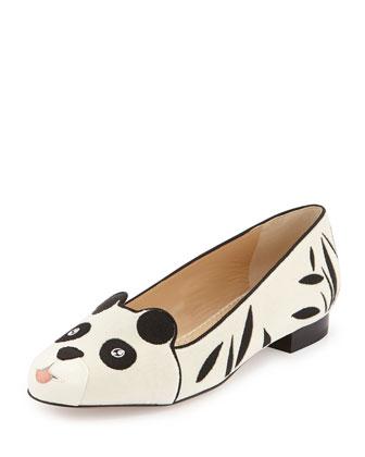 Charlotte Olympia Panda Velvet Flat