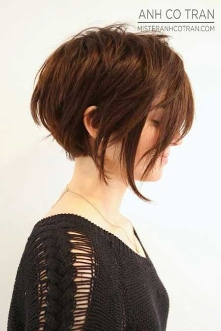 Choppy Short Hairstyle for Thick Hair