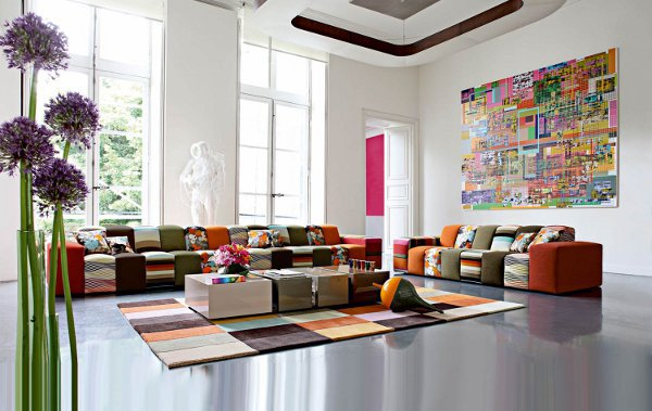 Color Block Sofas