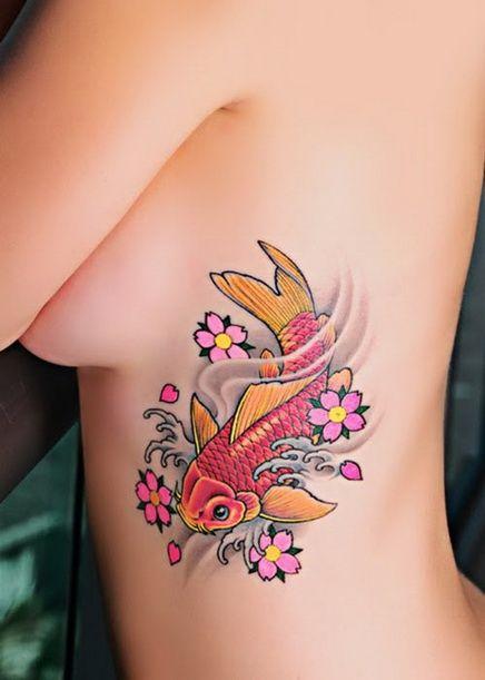 Colored Fish Tattoo Design