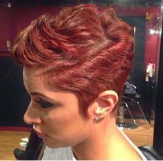 Colored Short Hairstyle for Black Women