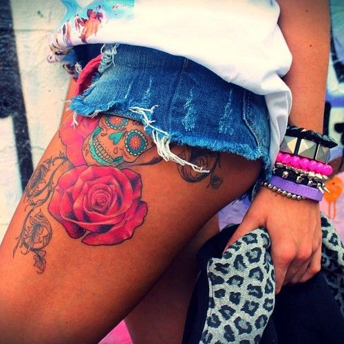 Colored Tattoo for Women