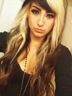 Cool Black Hair With Blonde Highlights