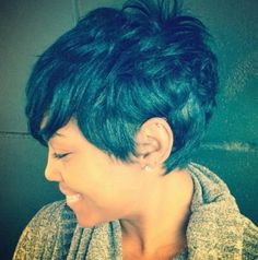 Cool Short Hairstyle for Black Women