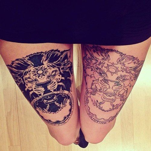 Cool Thigh Tattoo