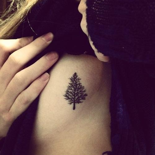 Cute Pinetree Tattoo