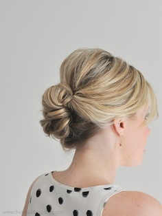 Cute Updo for Medium Length Hair