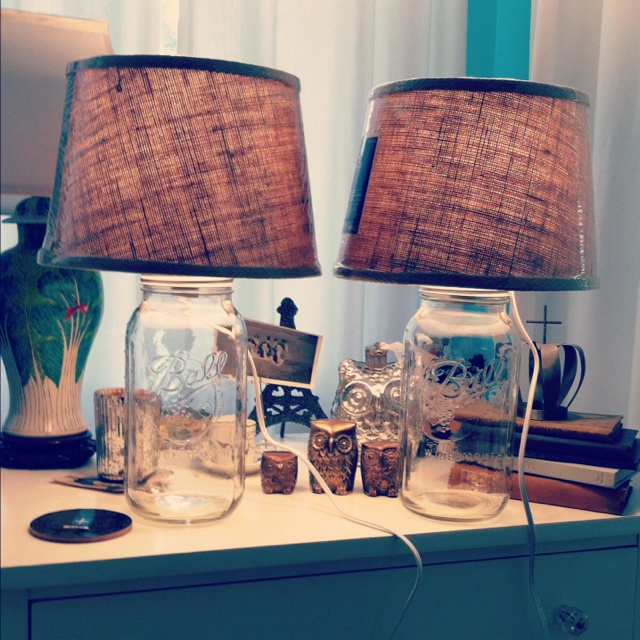 DIY Bedroom Lamps