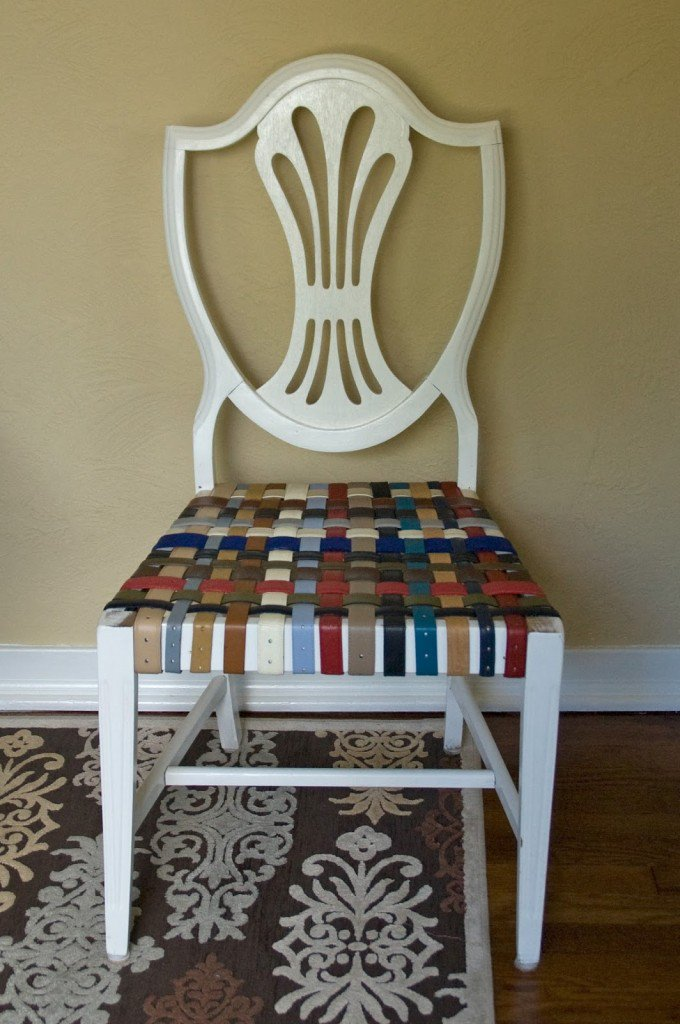 DIY Belt Chair