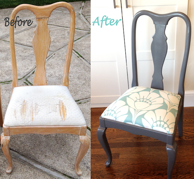 Charmant DIY Floral Dinning Chair
