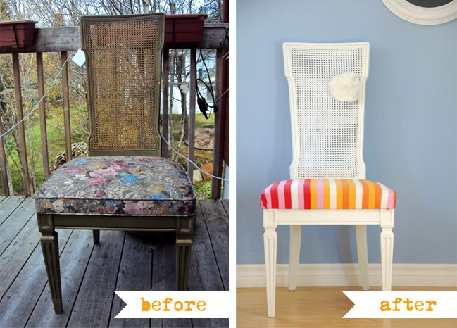 DIY Stripe Chair