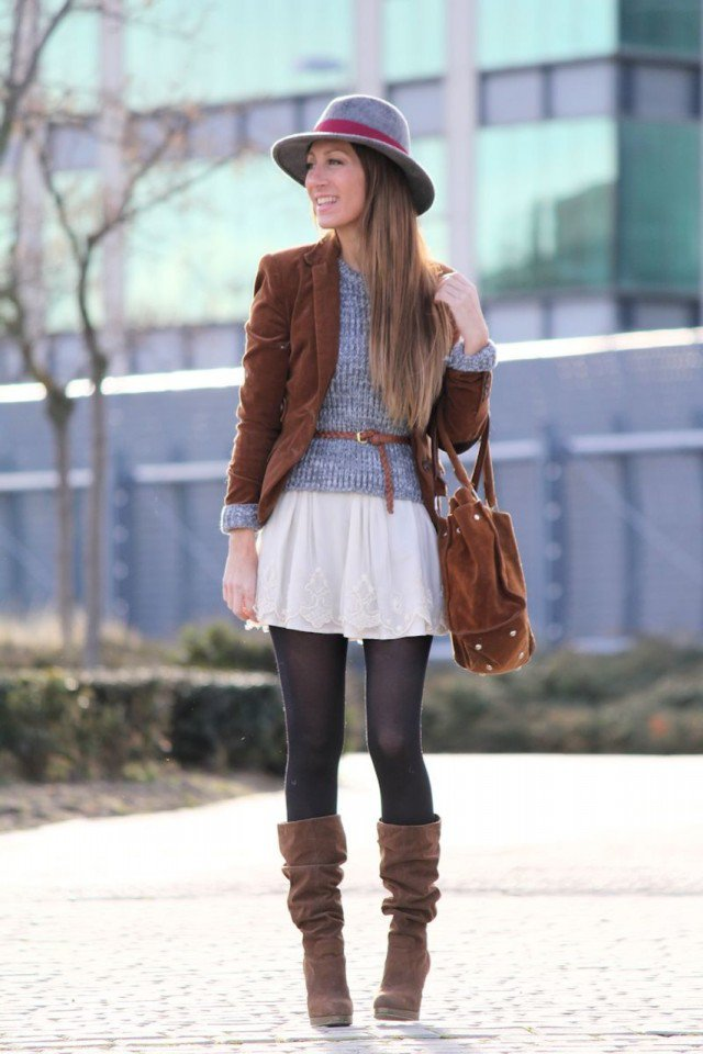 Dark Brown Blazer for Fall