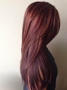 Dark Red Straight Hairstyle