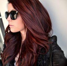 Dark Red Wavy Hairstyle