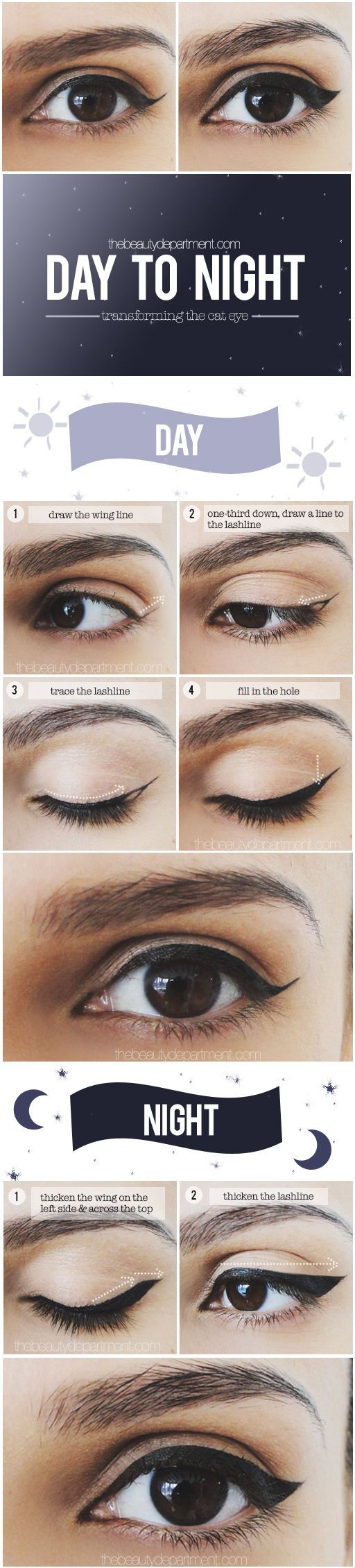 Day to Night Cat Eye Look