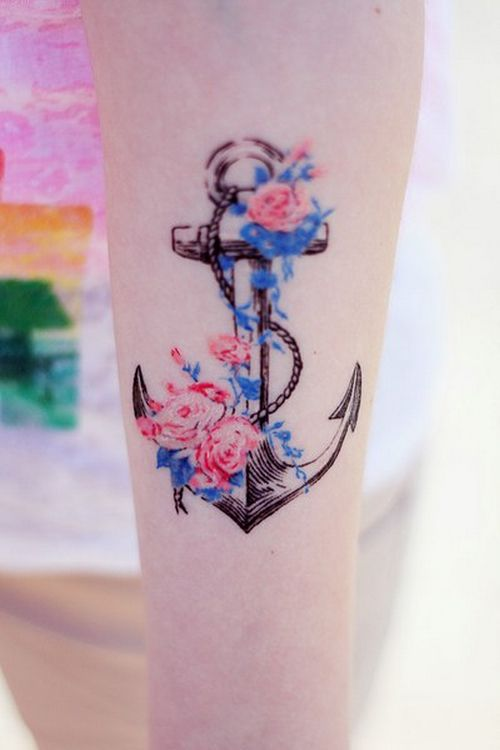 Delicate Colored Tattoo