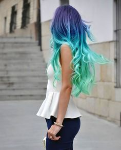 Dip Dyed Rainbow Hairstyle