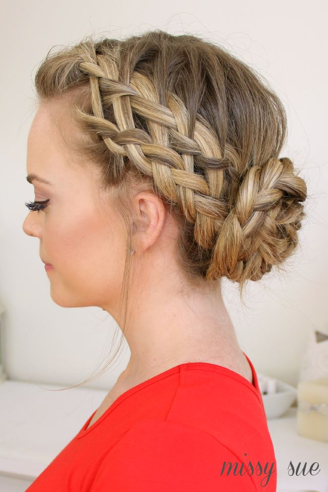 10 Fabulous French Braid Updo Hairstyles - Pretty Designs