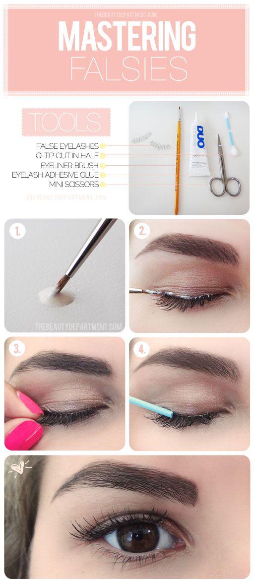 eyelashes fake tutorial easy eyes ways bigger via pretty