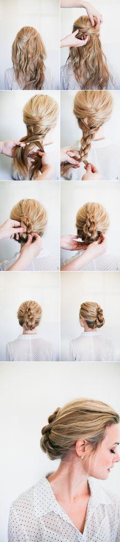 Easy French Braid Twist Hairstyle