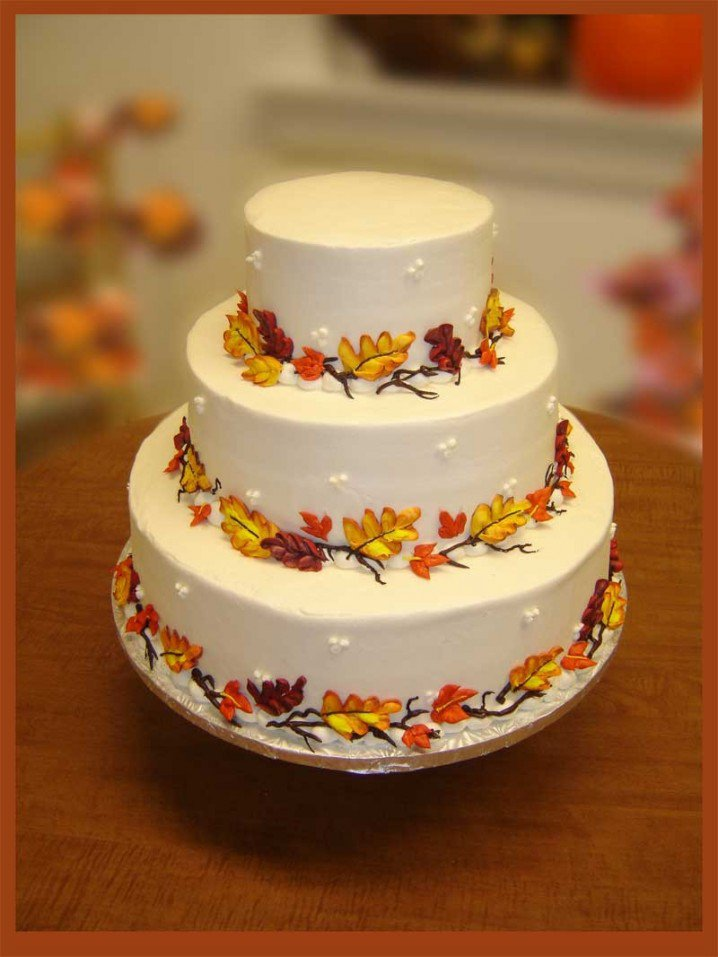 15 fall wedding cake ideas you may love pretty designs for Autumn cake decoration