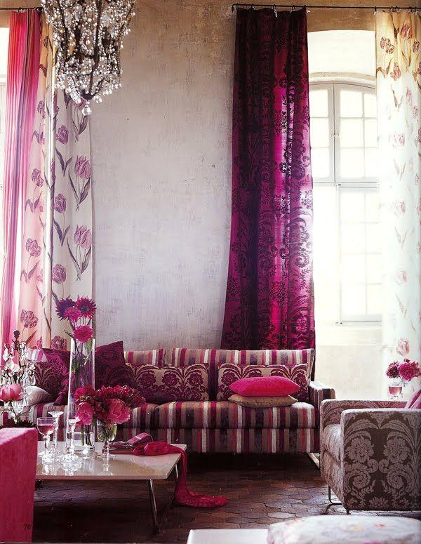 Elegant Floral Curtain