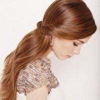 Elegant Half Up Half Down Wedding Hairstyle