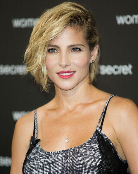 Elsa Pataky Side Parted Bob
