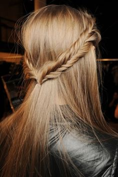 Fishtail Braided Straight Hairstyle