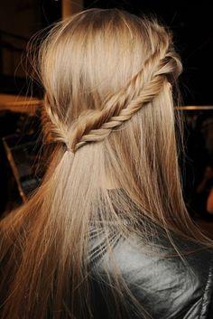 Fishtail Braided Straight Hairstyle