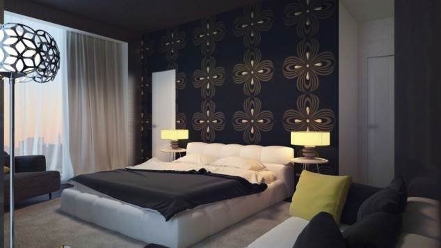 Black wall decor for bedroom