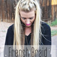French Braid Half up