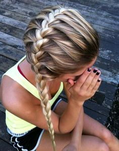 French Braid Ponytail Hairstyle for School Girls