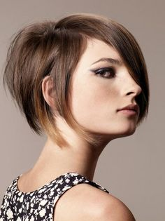 Funky Stacked Bob Haircut