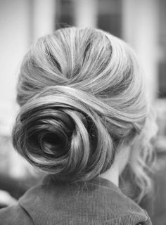 Glamorous Bun Hairstyle for Thick Hair