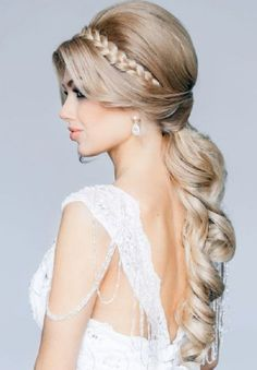 Glamorous Wedding Hairstyle for Long Hair - Pretty Designs