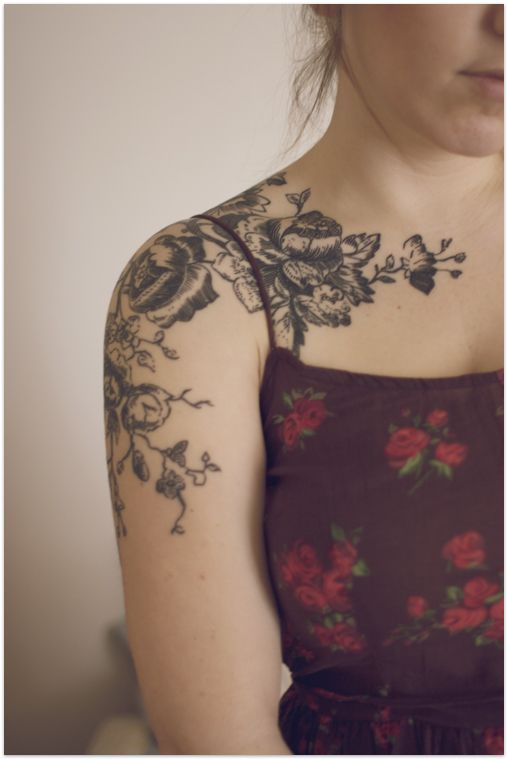 Gorgeous Floral Arm Tattoo
