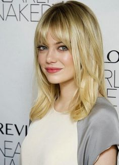 Great Medium Hairstyle With Bangs