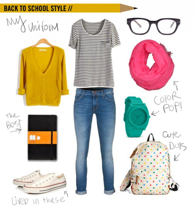 Great Outfit Idea for School Days