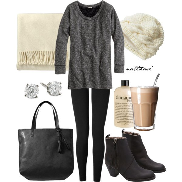 Grey and Black Outfit Idea for Fall