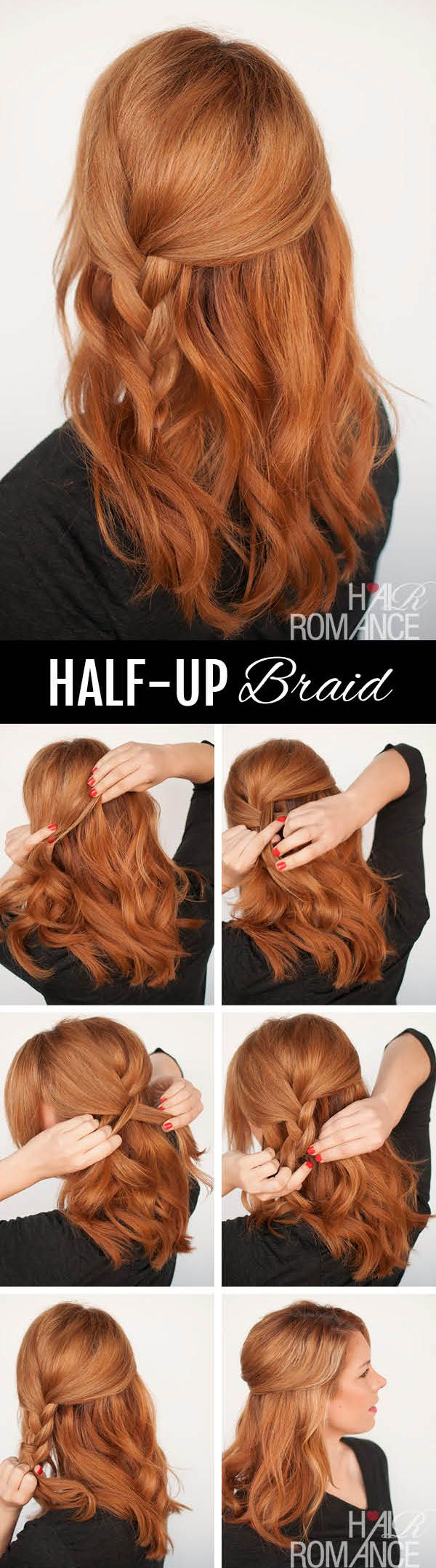 Half Up Braided Hairstyle Tutorial
