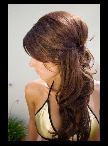 16 overwhelming half up half down wedding hairstyles pretty designs. Black Bedroom Furniture Sets. Home Design Ideas