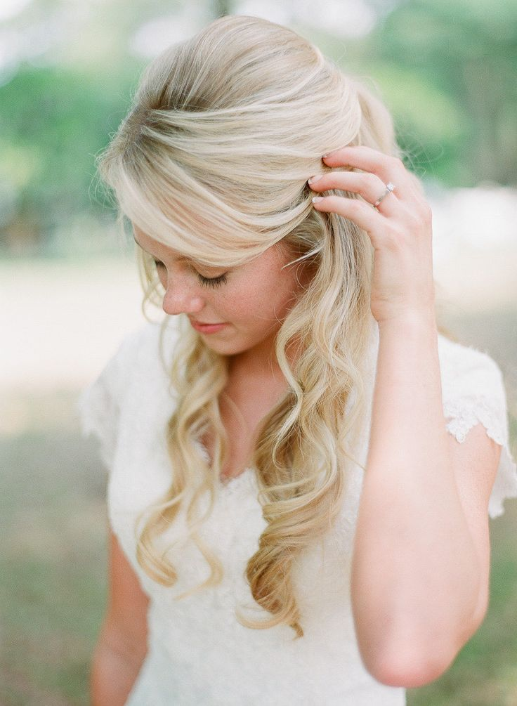 overwhelming half up half down wedding hairstyles